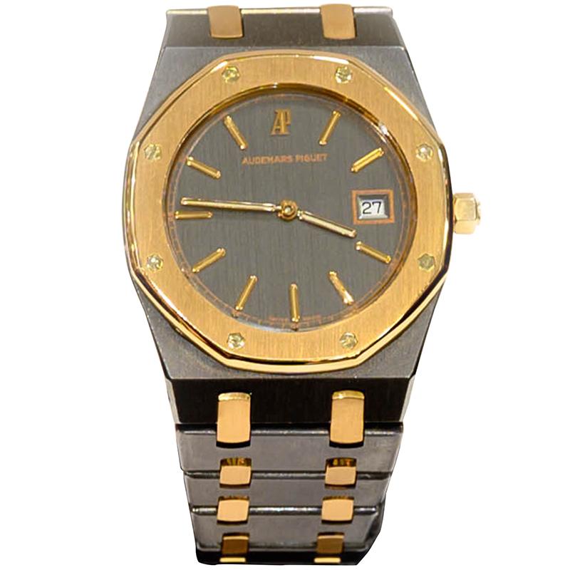 Buy Audemars Piguet Black 18k Rose Gold And Stainless Steel Royal