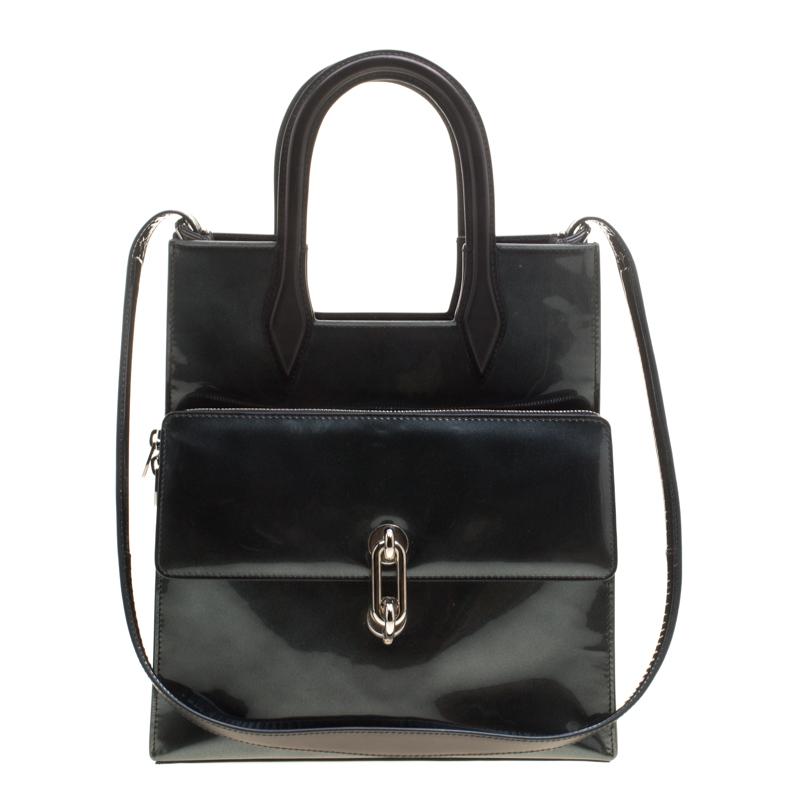 Balenciaga Black Patent Leather Maillon Tote
