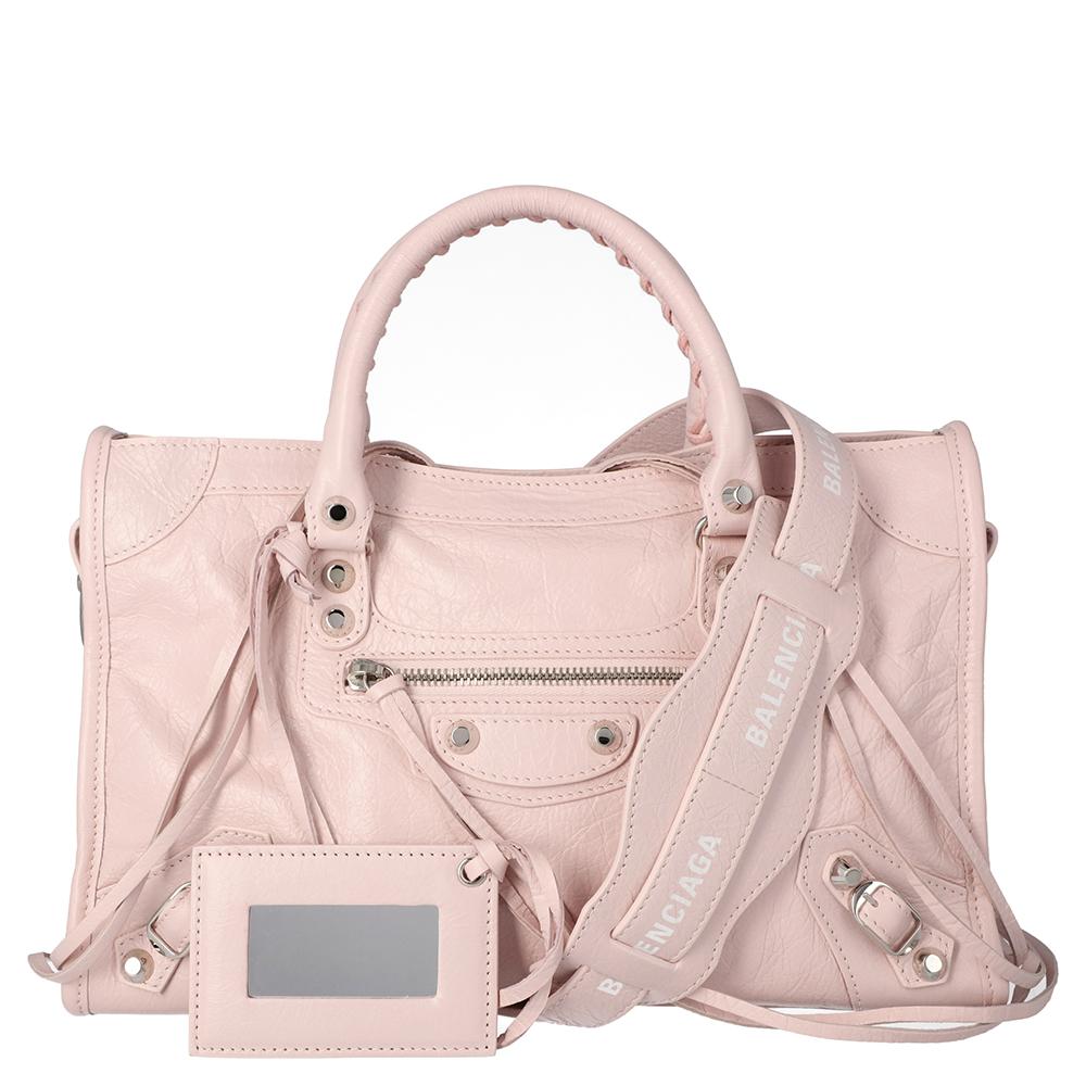 Balenciaga Pink Leather Small Classic City Tote Bag
