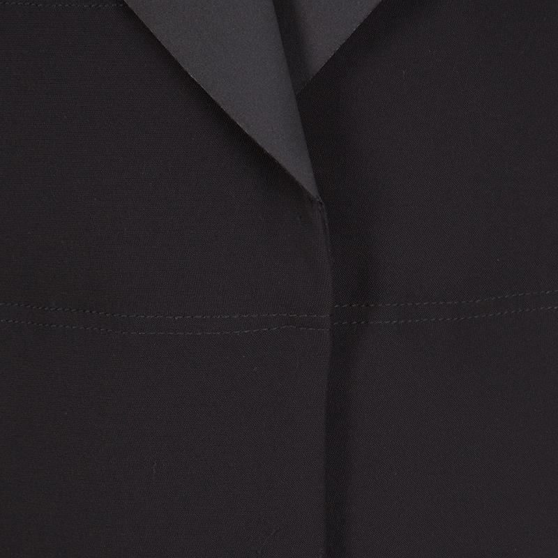 Balenciaga Black Gilet Zip Front Sleeveless Long Jacket S