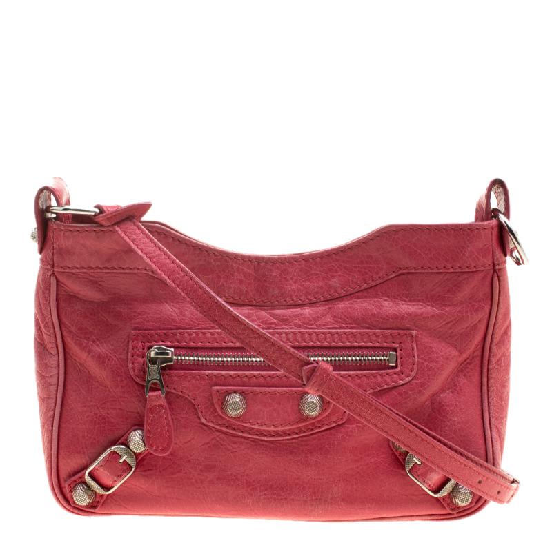 099ef47ed Buy Balenciaga Rose Thulian Leather RH Hip Crossbody Bag 137461 at ...