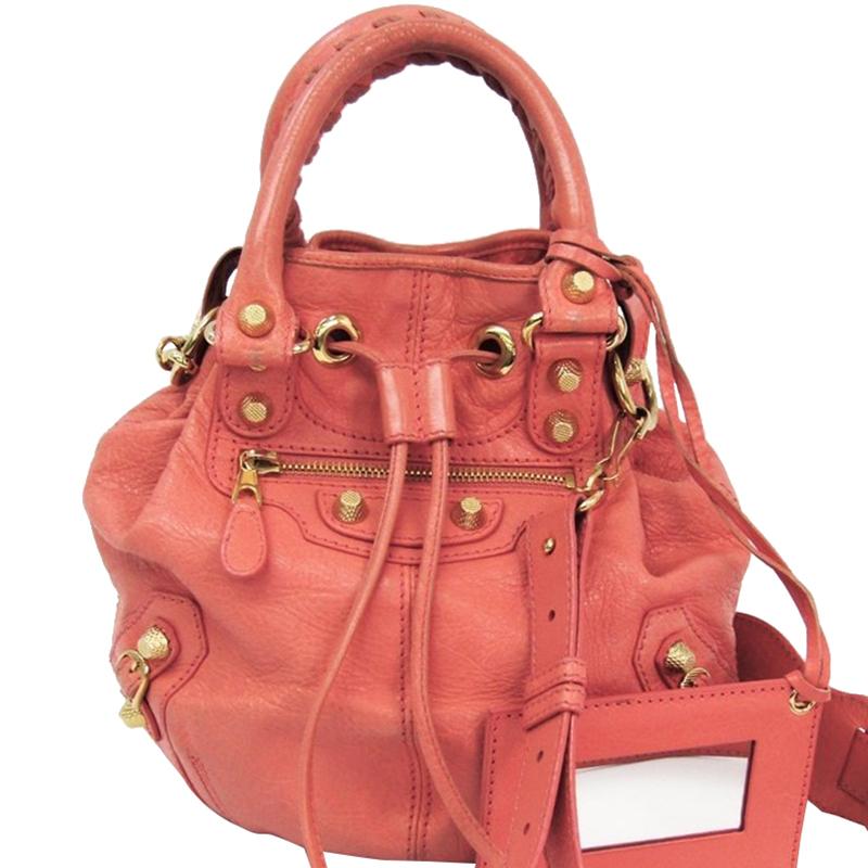 8c6f06bf1a8e ... Balenciaga Salmon Pink Leather Mini Pompon Bag. nextprev. prevnext