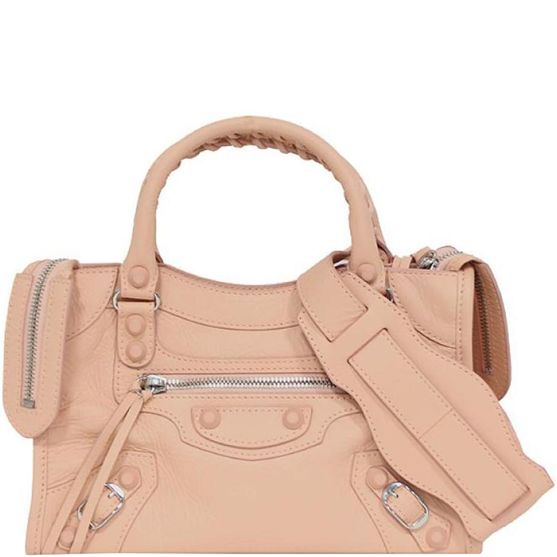 d49c8f303e Buy Balenciaga Pink Leather Classic Mini City 188490 at best price | TLC