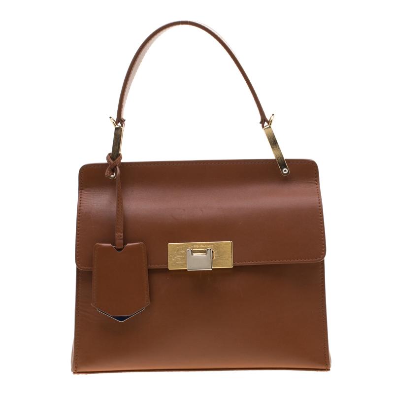dbc7646fc0 ... Balenciaga Brown Leather Le Dix Cartable Top Handle Bag. nextprev.  prevnext