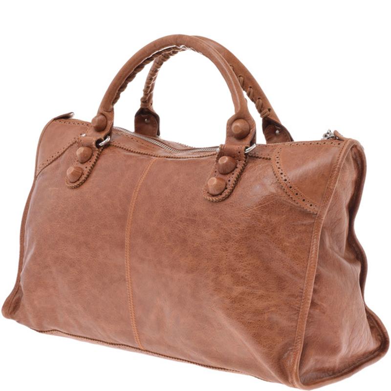 Balenciaga Brown Leather City Bag
