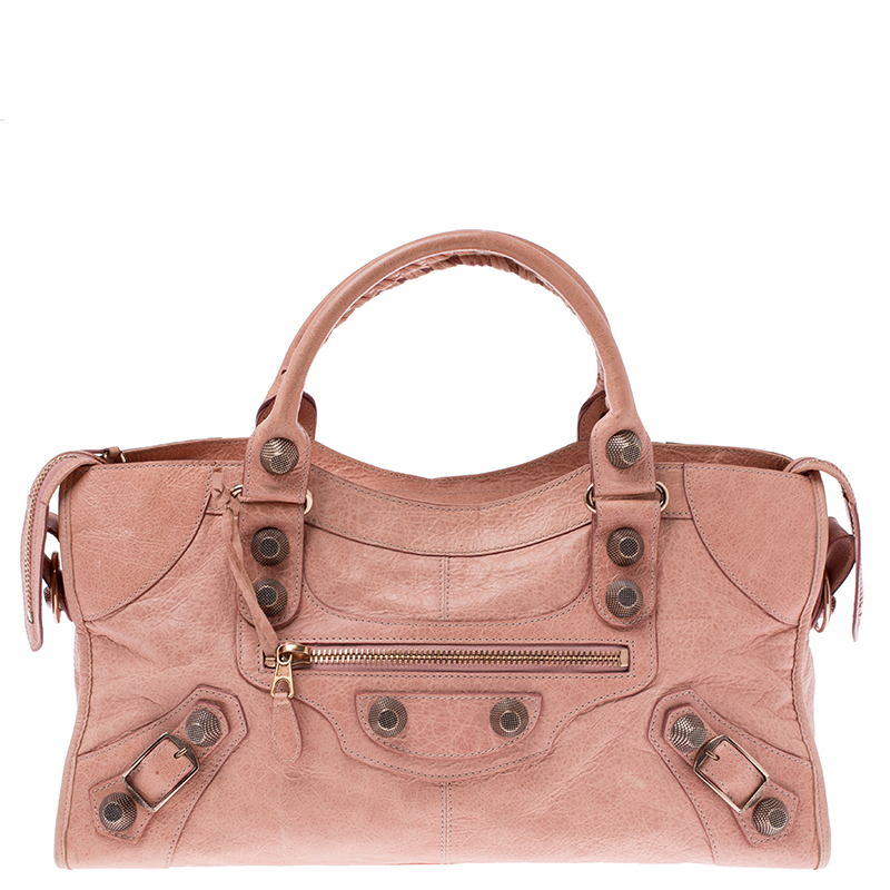 Peach Leather Rose Gold Hardware