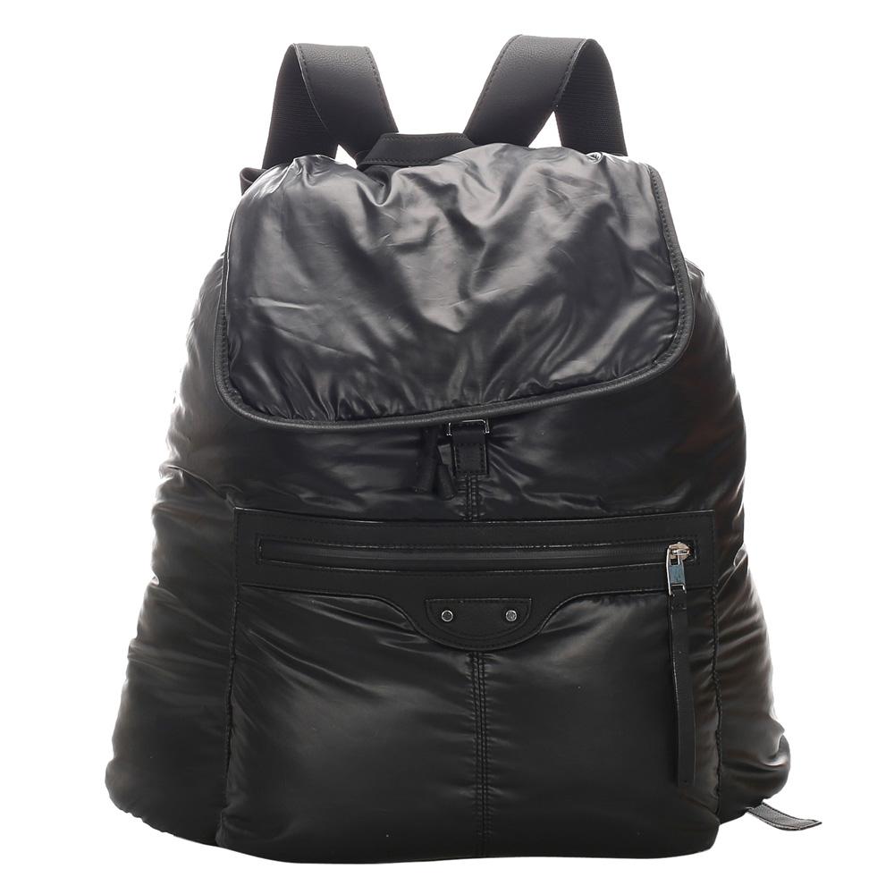 Balenciaga Black Vinyl Plastic Traveler S Backpack