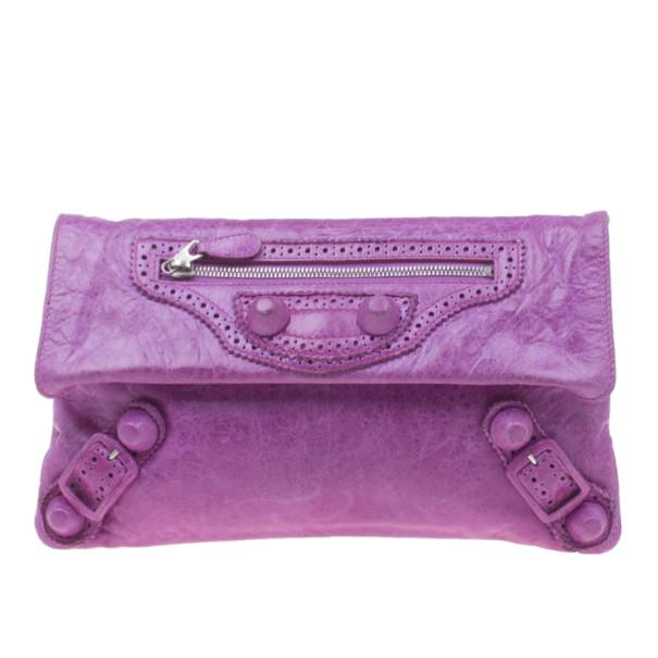 6de01bc4cb12 ... Balenciaga Purple Leather Giant Envelope Flap Clutch. nextprev. prevnext