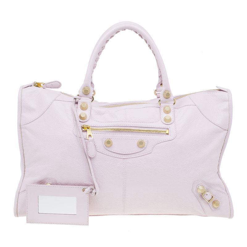 89c133b5ec ... Balenciaga Pink Leather Giant 12 Gold Work City Bag. nextprev. prevnext