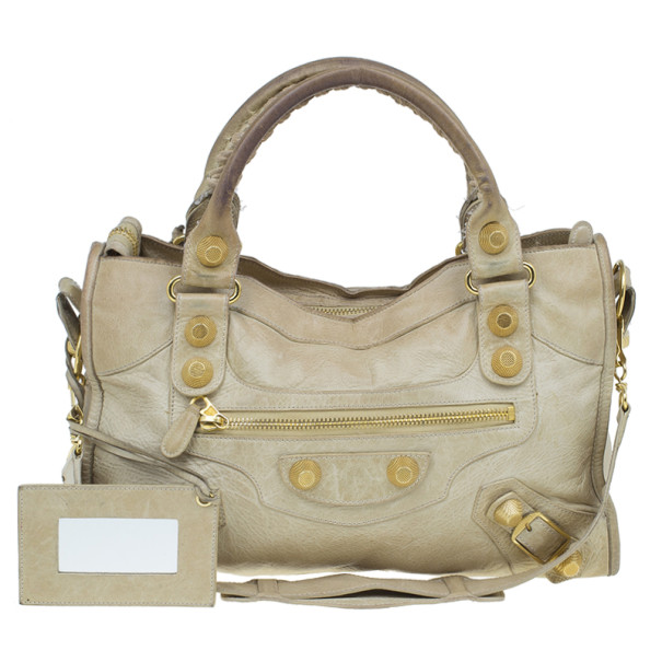 d4d8228491 Buy Balenciaga Beige Lambskin Classic City Tote 4762 at best price | TLC