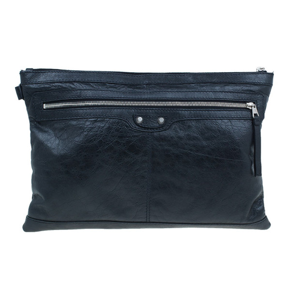 22fa222b27 Buy Balenciaga Black Leather Large Clip L Clutch 6675 at best price ...