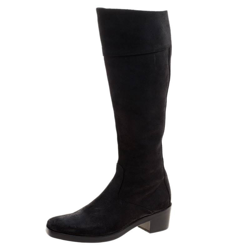 b93dca3b16f ... Balenciaga Black Leather Knee High Boots Size 38. nextprev. prevnext