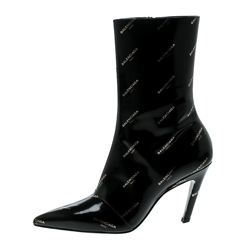 balenciaga heel boots