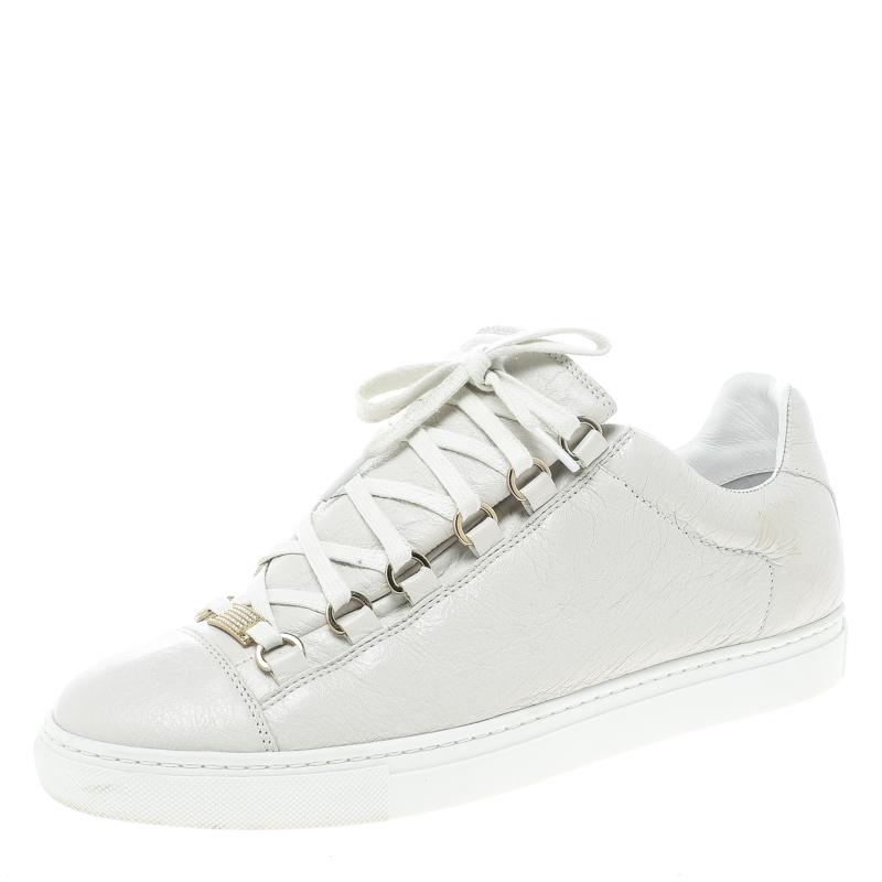 balenciaga white leather shoes
