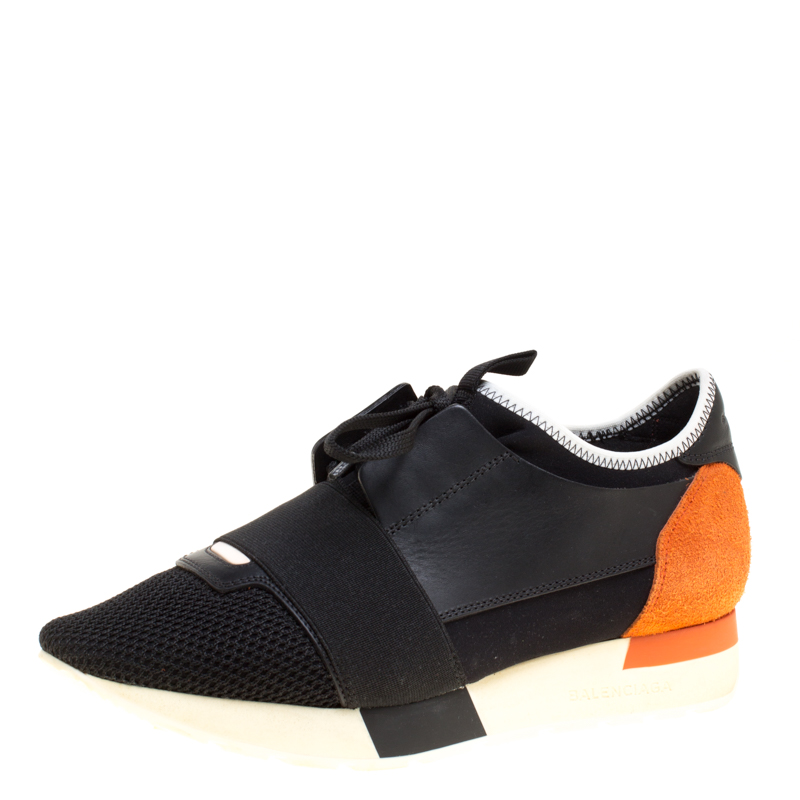 372988520553 Buy Balenciaga Two Tone Leather and Suede Race Runner Sneakers Size 37  148134 at best price
