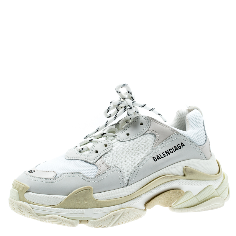 Balenciaga Triple S Carry Sneaker White Blue Violet in weiß