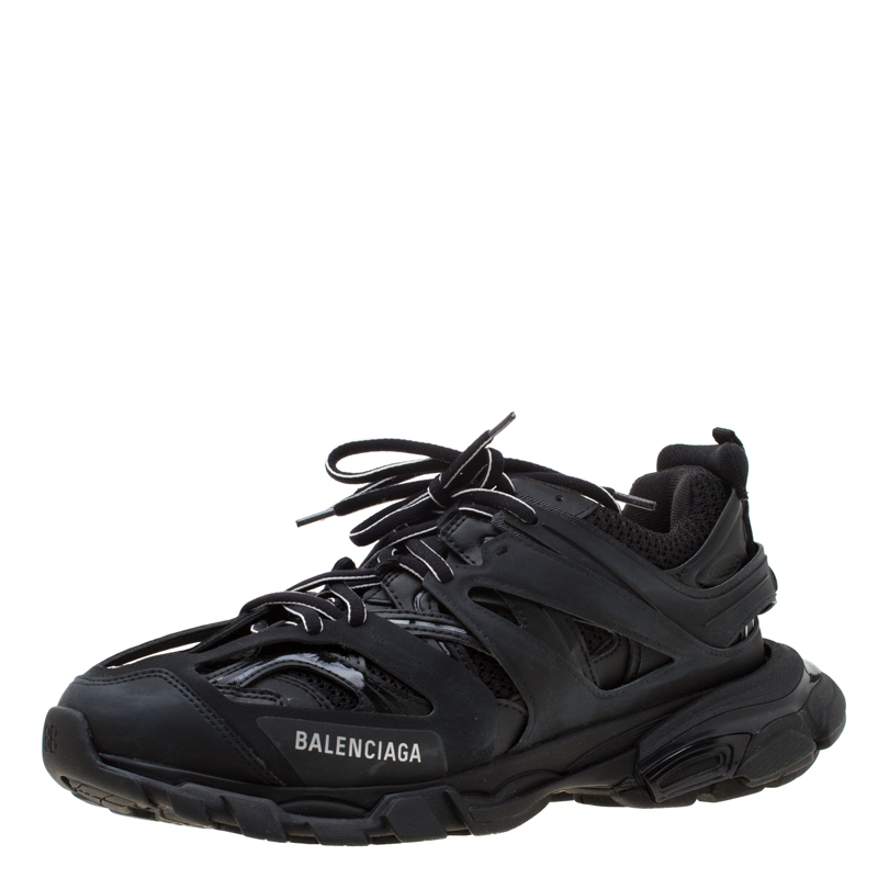 3e09e57efd33b Buy Balenciaga Black Leather/Mesh Track Lace Up Sneakers Size 41 197228 at best  price | TLC