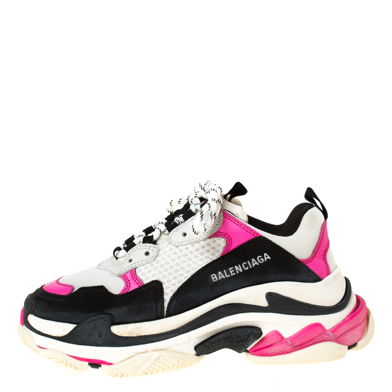 Balenciaga Triple S S S Women Green Neon New Box Size