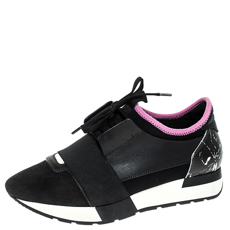 Nylon Race Runners Sneakers Size