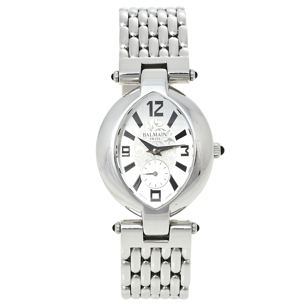 Pre-owned Balmain Silver Stainless Steel Excessive 3731 Women's Wristwatch 28 Mm