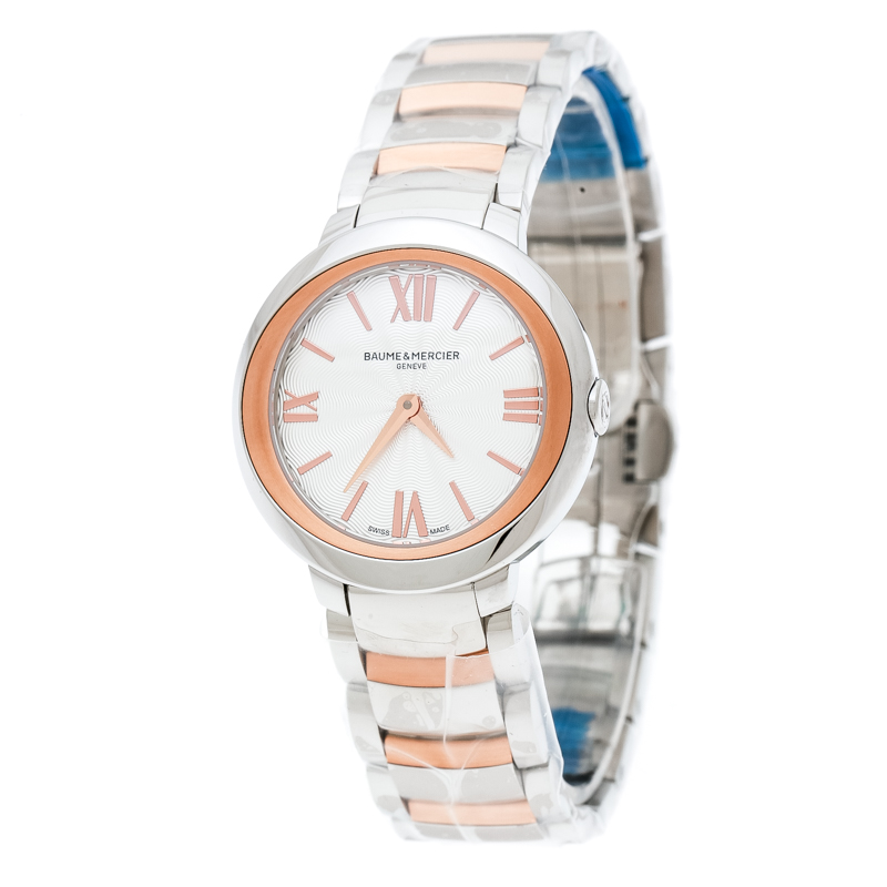 97ed0b86f Buy Baume & Mercier Silver White Stainless Steel And Rose Gold ...