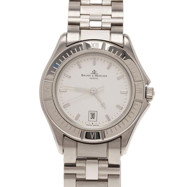 Baume & Mercier White Stainless Steel Classic Women's Wristwatch 30MM