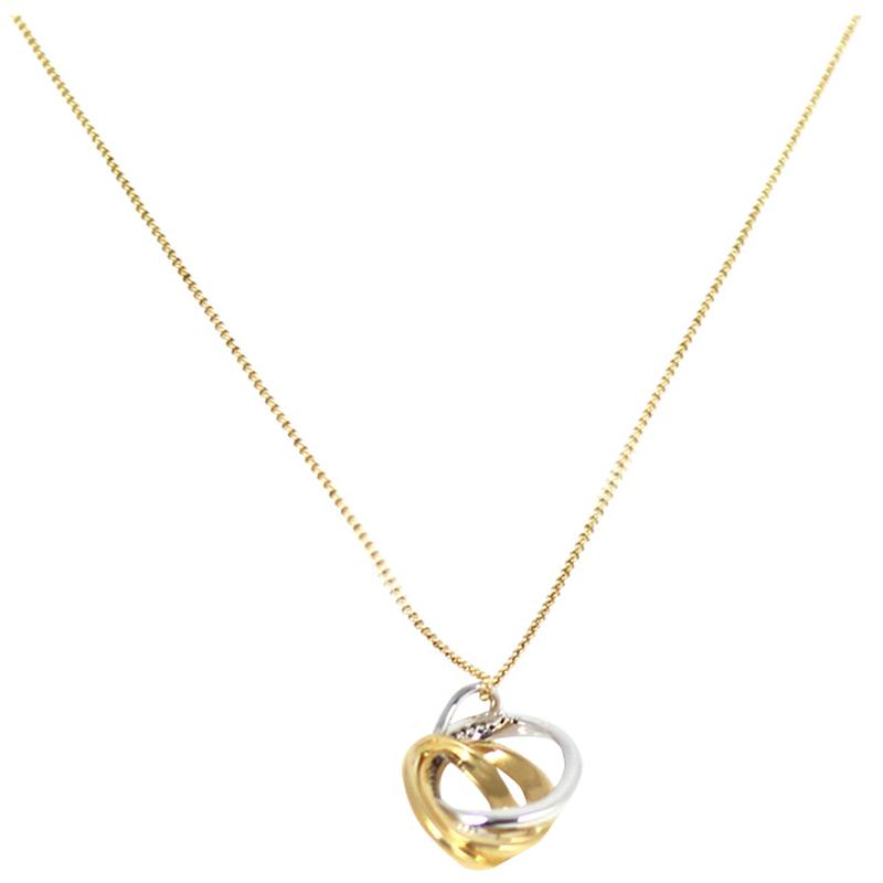 Bernhard H. Mayer Trinity Diamond 18K Yellow and White Gold Pendant
