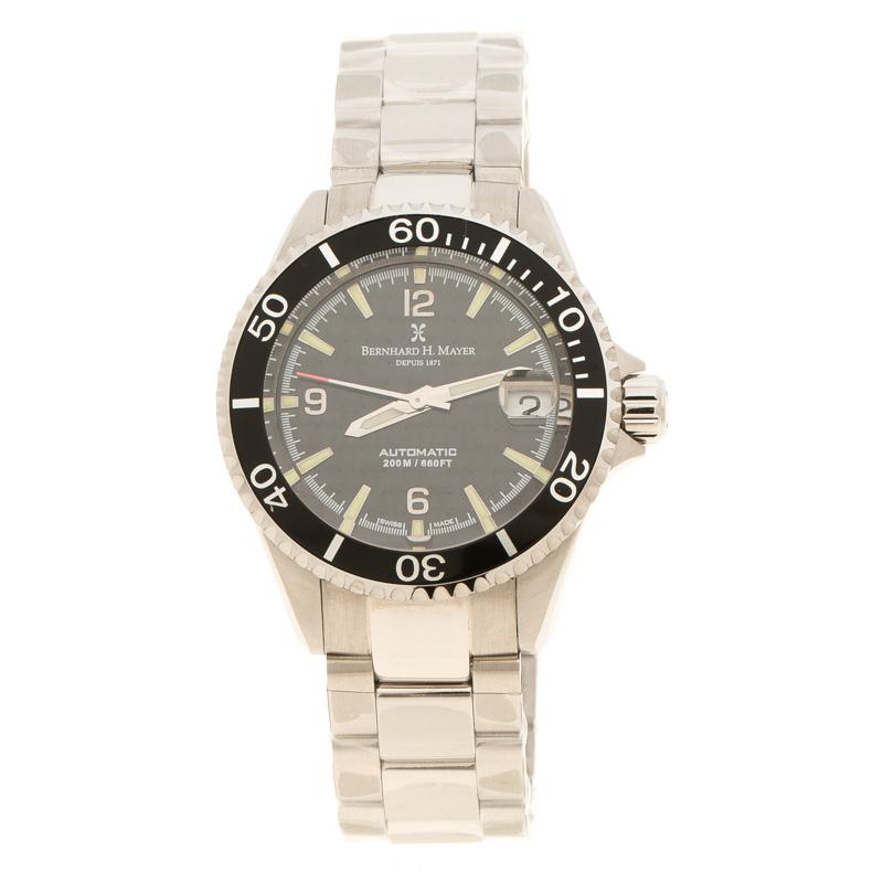 ساعة يد نسائية بيرنارد أتش. ماير ديبوس 1871 نوتيكاس 0330/4999 إصدار محدود سوداء 37مم