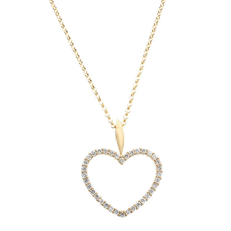 Купить со скидкой Bernhard H. Mayer Adonia Diamond 18k Yellow Gold Heart Pendant Necklace