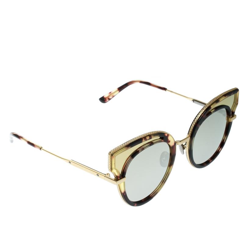 547d625e19 ... Bottega Veneta Gold Black Mirrored BV0094S Cat Eye Sunglasses.  nextprev. prevnext