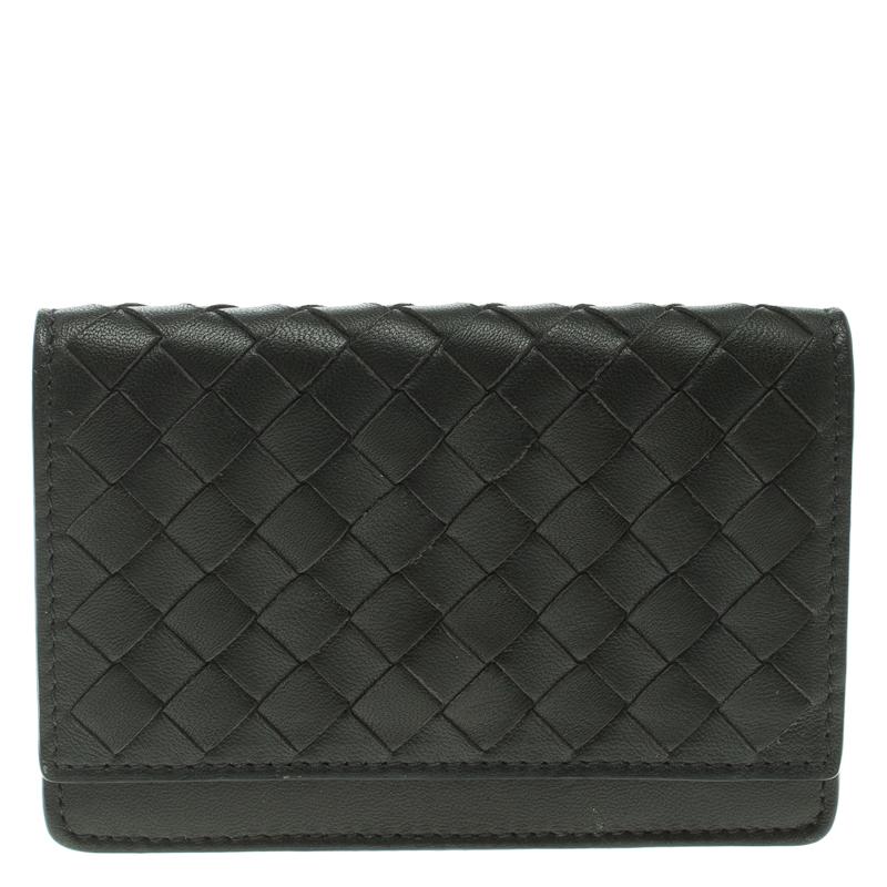 8f5017f4344e7 ... Bottega Veneta Dark Grey Leather Intrecciato Card Holder. nextprev.  prevnext