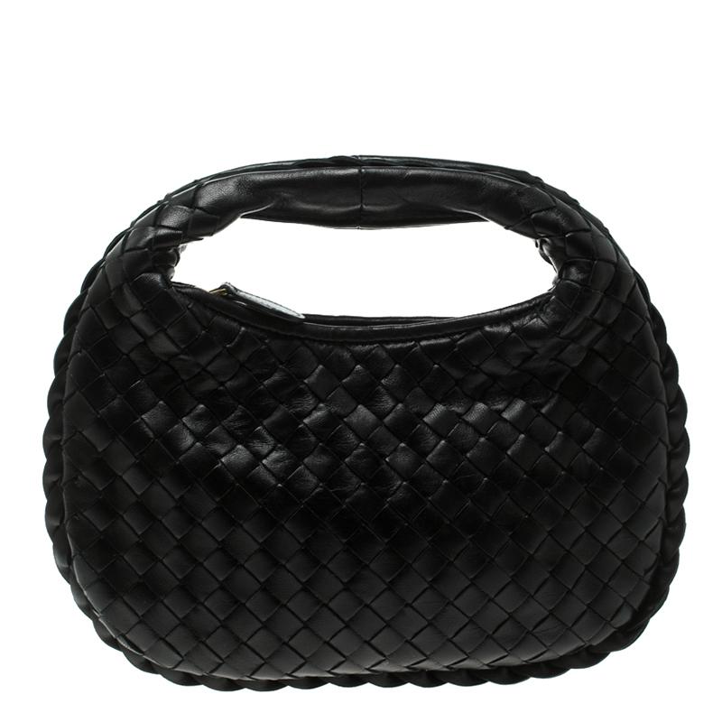5cb37ca2021f ... Bottega Veneta Black Intrecciato Leather Mini Hobo. nextprev. prevnext