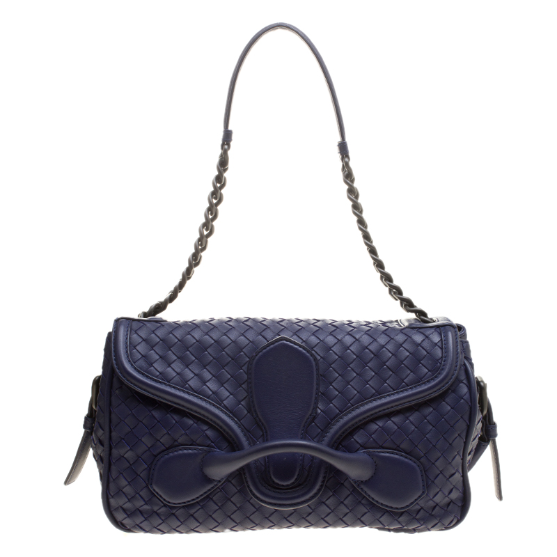 d71162accabe ... Bottega Veneta Purple Intrecciato Leather Medium Flap Shoulder Bag.  nextprev. prevnext