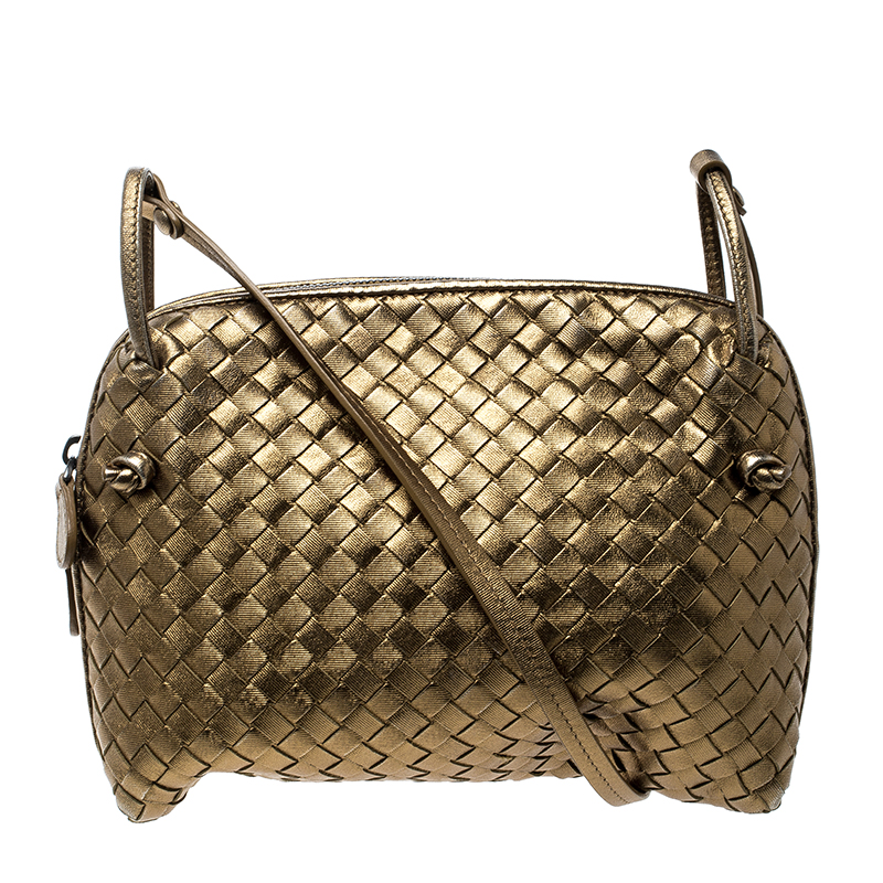 ... Bottega Veneta Gold Intrecciato Nappa Leather Crossbody Bag. nextprev.  prevnext a3fc45efc1364