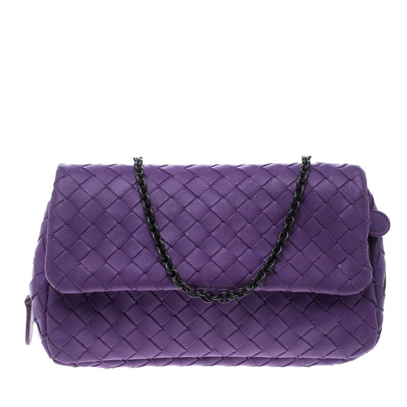 c0945697559a ... Bottega Veneta Purple Intrecciato Leather Messenger Bag. nextprev.  prevnext