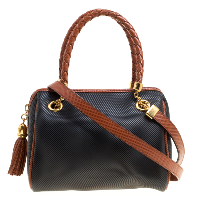... Bottega Veneta Black Brown PVC and Leather Braided Handle Crossbody Bag.  nextprev. prevnext 32ced6cf0dff5
