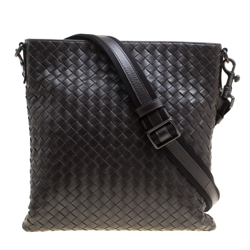... Bottega Veneta Dark Brown Intrecciato Leather Crossbody Bag. nextprev.  prevnext fec30796ac30a