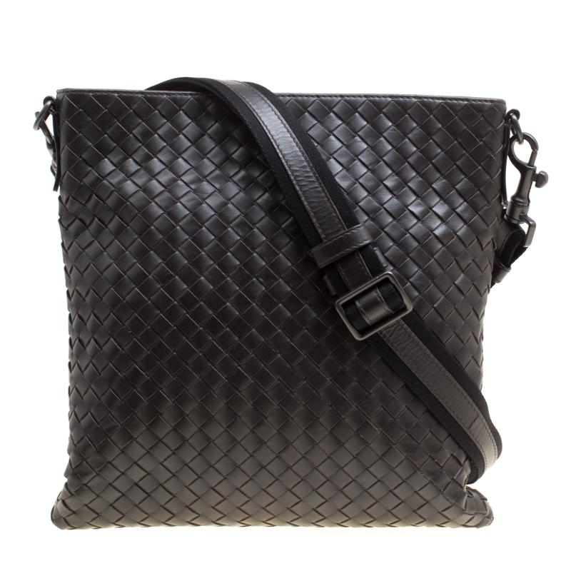 07e08d09d2 ... Bottega Veneta Dark Brown Intrecciato Leather Crossbody Bag. nextprev.  prevnext