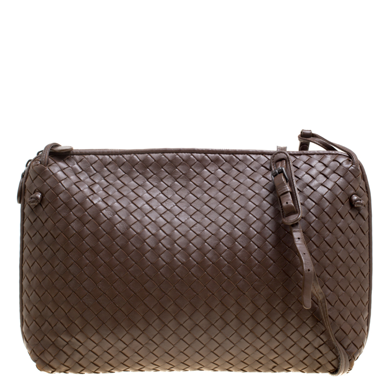 ... Bottega Veneta Brown Intrecciato Leather Nodini Shoulder Bag. nextprev.  prevnext f1860bfafb79e