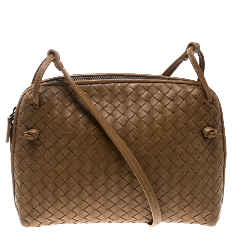 Buy Bottega Veneta Brown Intrecciato Leather Nodini Shoulder Bag ... 6519998297090