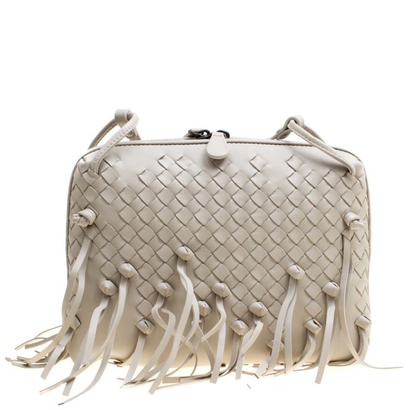 ... Bottega Veneta Light Beige Intrecciato Leather Fringe Nodini Shoulder  Bag. nextprev. prevnext 7d91ba79e4706