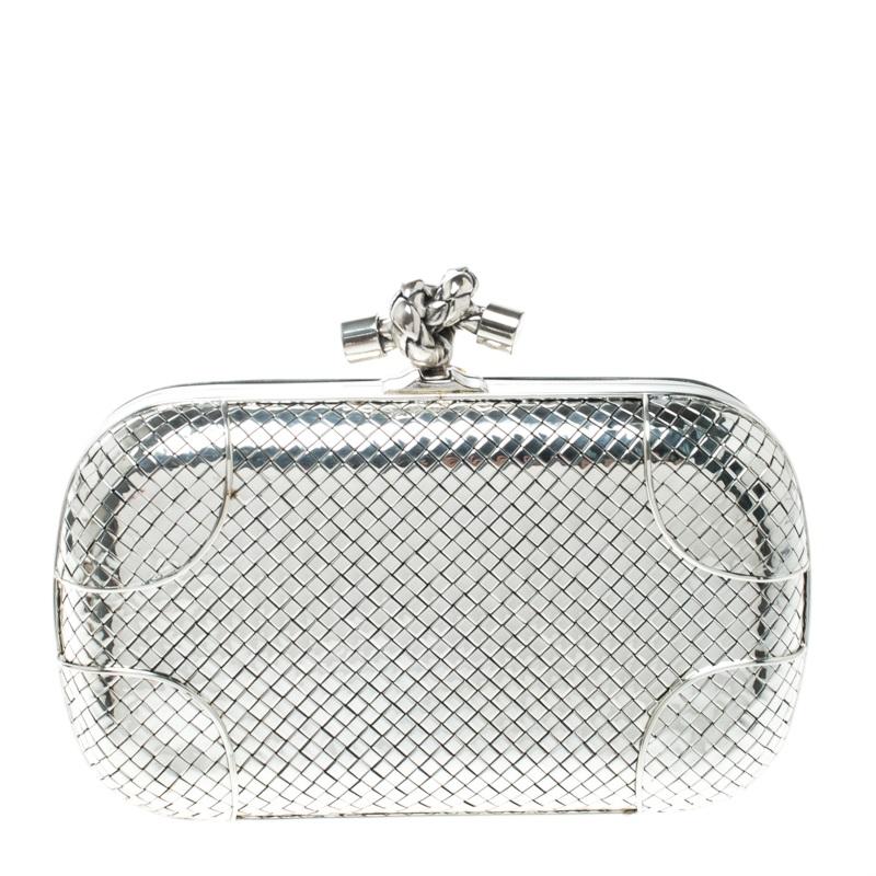 Buy Bottega Veneta Sterling Silver Knot Clutch 167654 at best price ... 496b38d4b576c