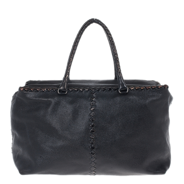 689251d899 Buy Bottega Veneta Black Large Brick Cervo Top Handle Bag 16793 at best  price