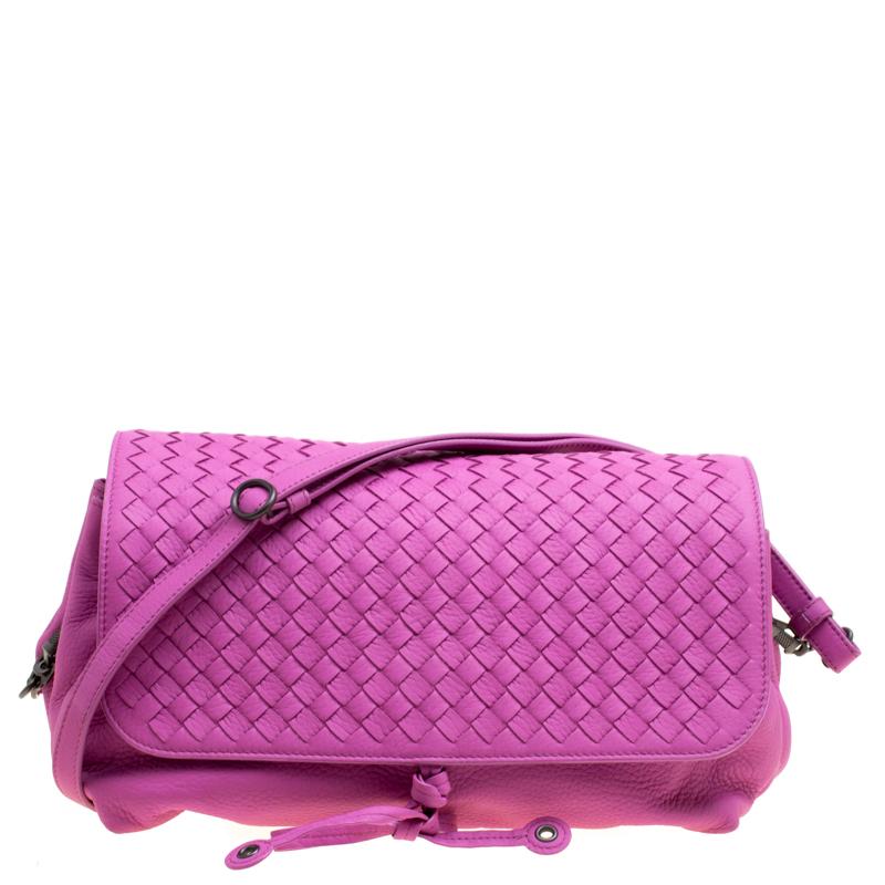 0222f15bb9f3 ... Bottega Veneta Lavander Intrecciato Leather Accordion Shoulder Bag.  nextprev. prevnext