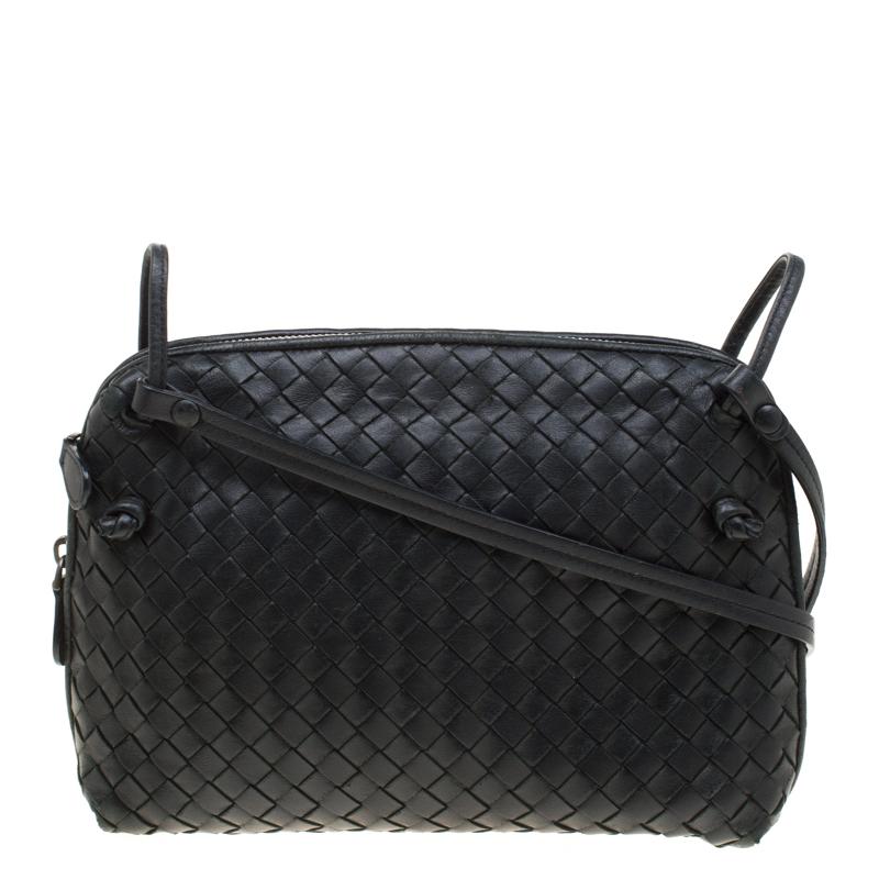 7f621eb529f42 ... Bottega Veneta Black Intrecciato Leather Nodini Shoulder Bag. nextprev.  prevnext