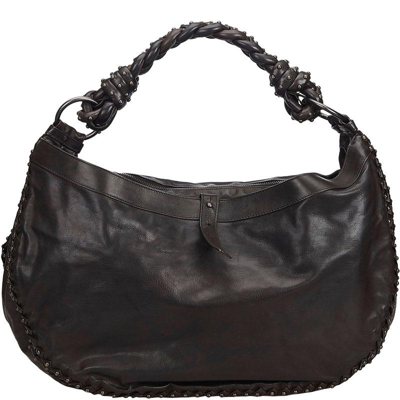 065d55eec803e Buy Bottega Veneta Leather Hobo Bag 183945 at best price   TLC