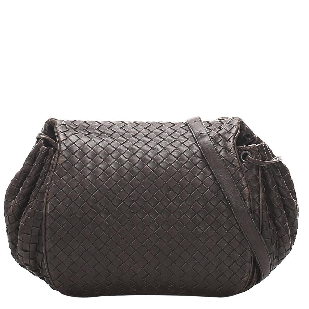 Pre-owned Bottega Veneta Black Leather Shoulder Bags