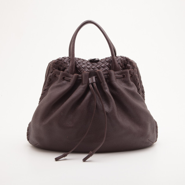 Buy Bottega Veneta Brown Dome Drawstring Bag 33639 at best price  3b02dc43be786