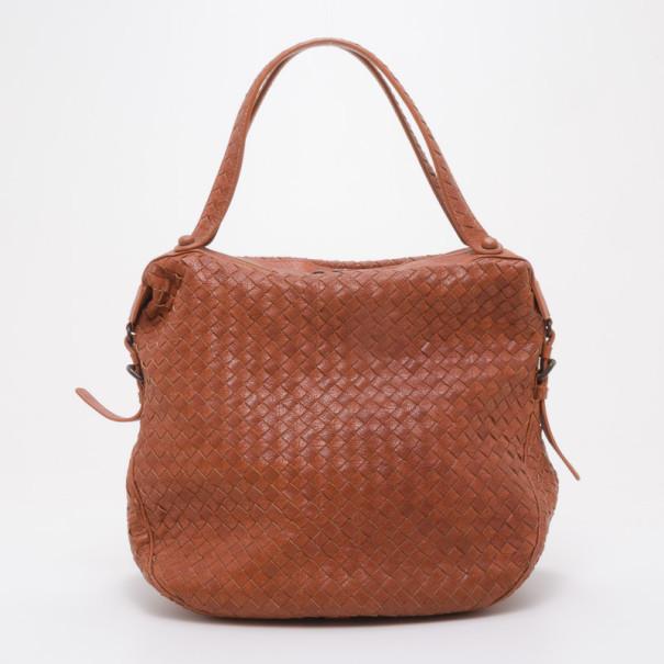 ef1daf57f656 ... Bottega Veneta Persimmon Intrecciato Leather Medium Tote Bag. nextprev.  prevnext