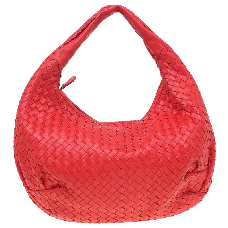 5c40f53ba ... Bottega Veneta Red Intrecciato Woven Nappa Leather Belly Veneta Hobo.  nextprev. prevnext